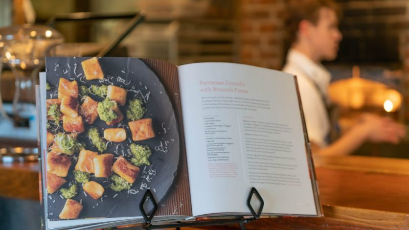 cookbook in the restaurant